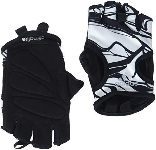 adidas Damen Climalite Graphic Handschuh, White/Black, L
