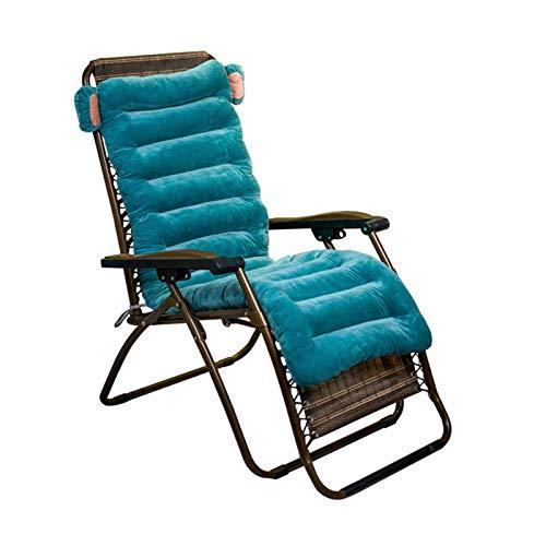 YYEWA - Cuscino per chaise longue per interni ed esterni, per sedia a dondolo, per sedia a dondolo, cuscino reclinabile da giardino, senza sedia, colore: verde