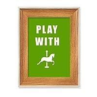 馬ゲーム デスクトップ木製フォトフレームディスプレイアート絵画セット