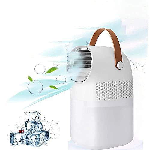 Ventilador de Dormitorio Ventilador de Aire Acondicionado portátil, Enfriador de Aire de Espacio Personal evaporativo de 3 velocidades con asa, Mini Ventilador de refrigeración para Dormitorio, hogar