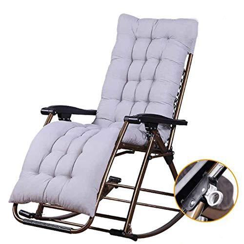 IJNBHU Silla reclinable para Actividades al Aire Libre con Gravedad Cero y portavasos, Silla Extra Ancha y Ajustable para tumbonas de Patio Garden Beach Beach, con Cojines de 200 kgC