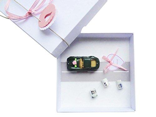schnurzpieps Geldgeschenk Verpackung für Hochzeit Auto rosa, Hochzeitsgeschenk, Geschenk Hochzeit