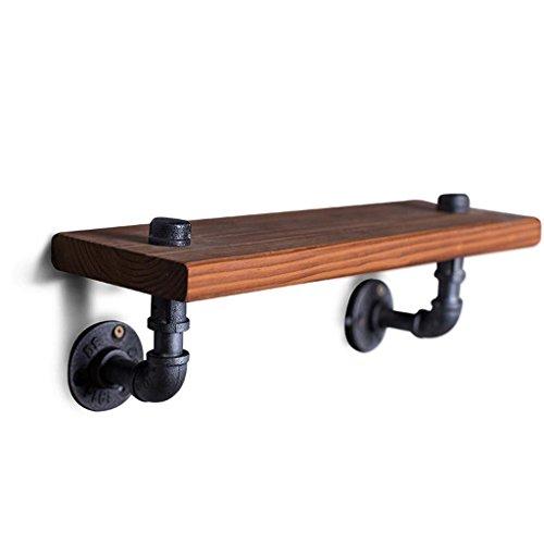 Hierro forjado de madera maciza Baldas flotantes 40 * 15cm, estante creativo retro de la partición / estante de la tubería / estante de exhibición / estante del almacenaje casero para la sala de estar