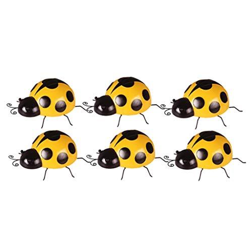 prasku 6 Pieces Lovely Ladybird Figurine Ladybug Ornaments Kindergarten Decor