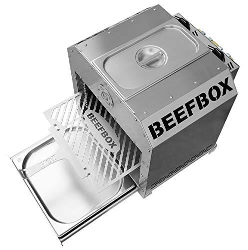 Beefbox Twin 2.0 - XXL 850°C Oberhitze Grill mit 2 x 4.2kW - komplett Edelstahl - demontierbar - elektronische Zündung - integrierter Warmhaltebereich