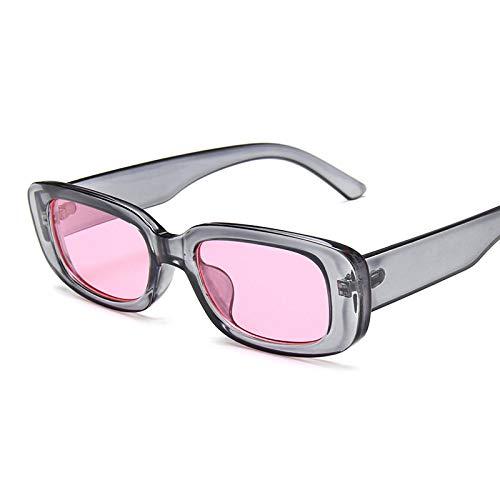 Gafas De Sol Gafas De Sol Rectangulares De Diseñador para Mujer Gafas De Montura Estrecha Pink Leopard Smalll Gafas De Sol C3Graypink