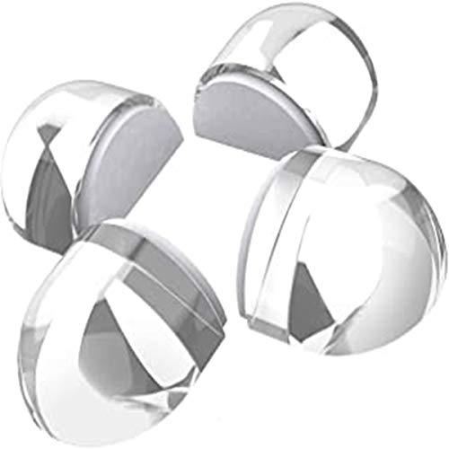 Fends de puerta autoadhesiva transparentes, 4 piezas de tapón de puerta de 4 piezas protectores de pared, perilla de puerta cojín para parachoques de pared de parachoques de puerta de puerta cubierta