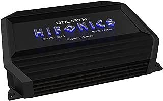 GA15001D Hifonics Goliath 1 x 375 @ 4 Ohms 1 x 750 @ 2 Ohms 1 x 1500 Watts @ 1
