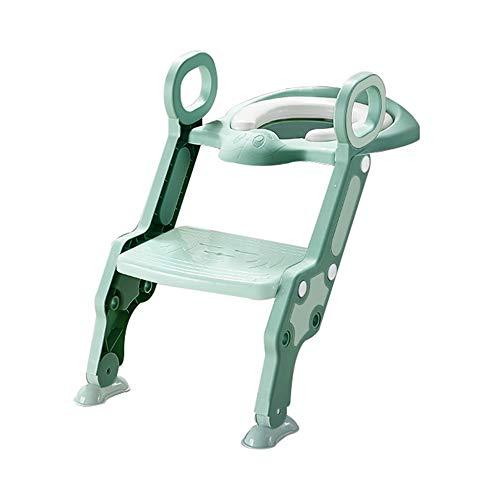 Toilettenstuhl für Kleinkinder, multifunktionaler Toilettenleiter für Kinder, Töpfchen-Trainingsstuhl, faltbares Design, höhenverstellbar, geeignet für Jungen und Mädchen/A / 62CM