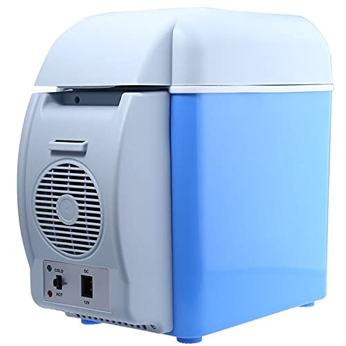 ONE-KJWH Mini Refrigerador Portátil para Automóvil, Refrigerador Portátil De 7.5 litros Y Mini Congelador De Una Puerta para Preservación del Calor, Muy Adecuado para Autos Familiares