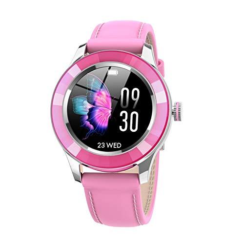 Xiao Yu Los Relojes para Hombres Y El Rastreador De Ejercicios para Mujeres IP67 Relojes Inteligentes A Prueba De Agua, Pueden Recordar Información Y Controlar La Música (Color : Barbie Powder)