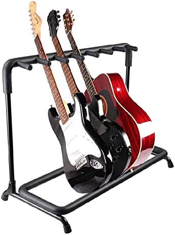 Multi Guitar Stand 7 Holder Foldable Universal Display Rack Portable Guitars Hangers Floor Rack product image