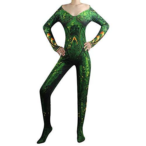 Red ROSEY Aquaman Mera Cosplay disfraz Cos disfraz reina Atlanna cuerpo disfraz de Halloween tela de lycra unisex para hombres y mujeres