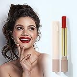 Highpot Glazed Matte Lipstick Lip Gloss Waterproof Lip Makeup Durable Lipgloss Cosmetics Mini Tobacco Tube Pack Long Lasting Non Stick Cup Liquid Lip Gloss (Cinnabar red)