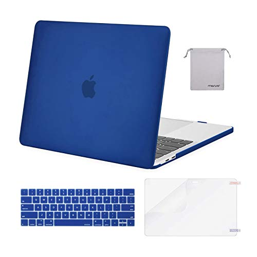MOSISO Compatible with MacBook Pro 13 inch Case 2016-2020 Release A2338 M1 A2289 A2251 A2159 A1989 A1706 A1708, Plastic Hard Shell Case&Keyboard Cover Skin&Screen Protector&Storage Bag, Royal Blue