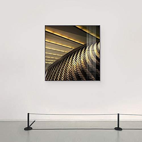 XCSMWJA Abstrakte Art-Raum-Erweiterungs-Wand-Bilder Für Wohnzimmer-Moderne Dissimilation-Raum-Kunst-Malerei-Leinwand Und Plakate 70 * 70Cm
