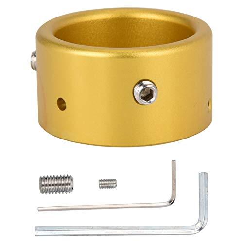 Antena anular con hebilla antirrobo, alarma antirrobo, antena de coche, dispositivo antirrobo, resistencia al desgaste, para antenas con una base entre 2-3 cm(Golden)