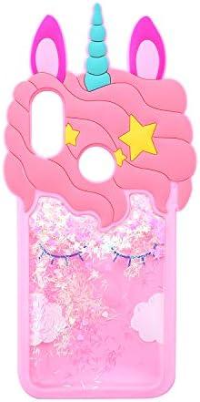 Quicksand Unicorn Case for Xiaomi Redmi Note 7 Awin Case 3D Cute Unicorn Kids Gilrs Women Bling product image