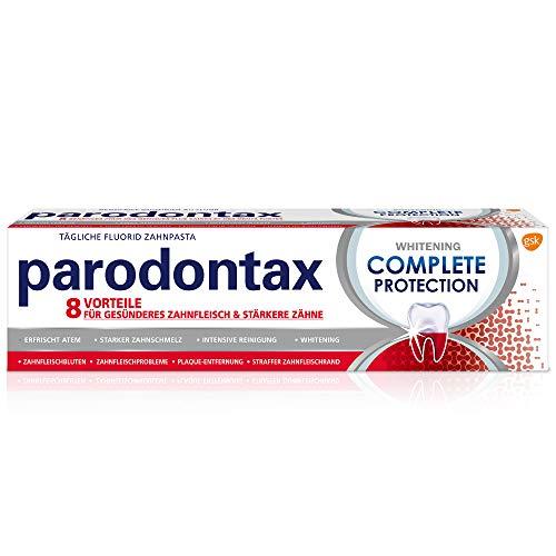 Parodontax Complete Protection Whitening Zahnpasta mit Fluorid, 1x75ml, hilft Zahnfleischbluten zu reduzieren und vorzubeugen