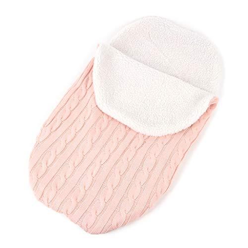 KINTRADE Newborn Baby Wickelwickel Warmdecke Soft Knitting Babywagen Schlafsack