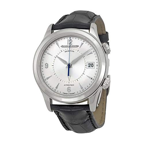 Jaeger Lecoultre uomo Master Memovox 40mm Alligator Leather Band Steel...