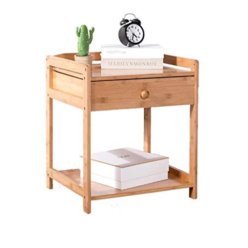 Mesa auxiliar Mesa auxiliar Mesa auxiliar Mesa auxiliar Mesa auxiliar Mesa de centro con mesa de centro con estante Unidad de almacenamiento de madera 46.5 * 38 * 52 cm ( Color : Single Drawer )