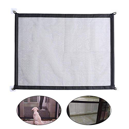 Magic Gate for Dog, Pet Dog Rete di Sicurezza Portatile Cani Barriera di Sicurezza Newest Isolamento Pet Safety Enclosure Net, Retrattile Animali Cancello Staccionate Auto Barriera (72 x 180 cm)