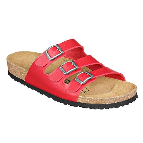 JOYCE Paris Riemje-sandalen voor dames, comfortabele kurk-sandalen met comfortabele zool, pasvorm smal en normaal, maten 36-42