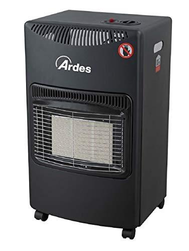 Ardes AR382 Boxer Stufa a Gas GPL a Infrarossi 3 Potenze con Accensione Piezo Elettrica Vano Porta Bombola Dispositivo di Sicurezza e Controllo Fiamma e Livello Ossigeno e Kit Montaggio, Nero