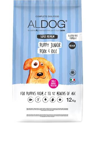 ALDOG Puppy Junior Pork And Rice 12 kg Medium
