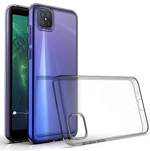 Suncase Transparent Silikon Hülle kompatibel mit Oppo Reno 4 Z 5G Hülle - Stoßfest Klar Flexibel Durchsichtige TPU Tasche Handyhülle Schutzhülle