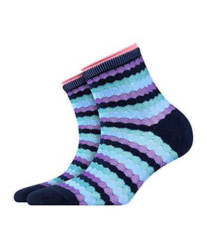 BURLINGTON Damen Socken Bubbly - Baumwollmischung, 1 Paar, Blau (Marine 6120), Größe: 36-41