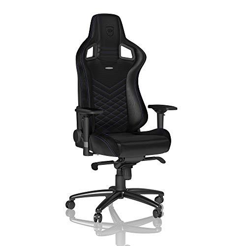 noblechairs Epic Gaming Stuhl - Bürostuhl - Schreibtischstuhl - PU-Kunstleder - Inklusive Kissen - Schwarz/Blau