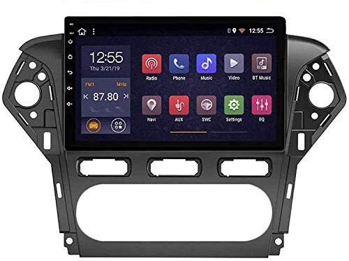 Compatible para Ford Mondeo 2011-2013 Sat Nav Android 8.1 Unidad De Cabeza FM Radio Receptor Auto Audio Player MP5 Coche Estéreo 10.2 Pulgadas Pantalla Táctil Navegación GPS,8 Core 4G+WiFi 2+32GB