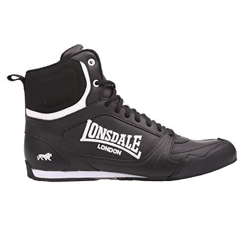 Lonsdale Kids Bout Jnr Boys - zapatillas de cordones de deporte, de boxeo, color Negro, talla 5.5 UK