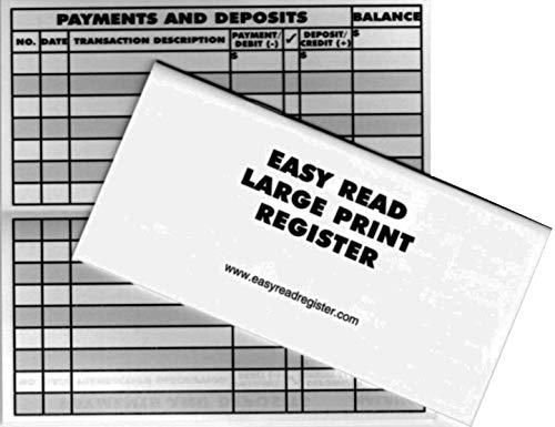 10 Large Print Low Vision Checkbook Transaction Registers