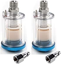 Jewboer 2 pack Air Compressor Filter Oil Water Separator Air Dryer for Spray Gun Plasma Cutters Air Tools Air Line 1/4