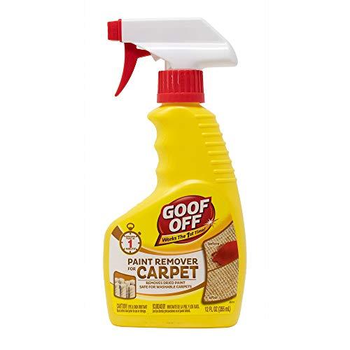 Goof Off FG910 Paint Remover Carpet Cleaner Solution –, 12 oz. Spray, 12 Fluid Ounces