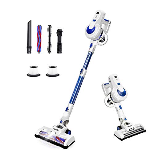 Cordless Vacuum Cleaner, 2 in 1 Stick Handheld Vacuum Cleaner, 18Kpa Lightweight Cleaning Vacuum, LED Light, Two HEPA, Carpet Brush, Hard Floor Brush for Home, Care, Pet Hair - New Telescopic Tube