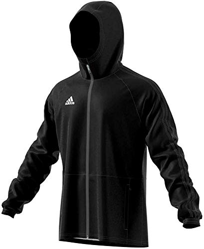 adidas Con18 Rain Jkt Giacca Sportiva, Uomo, black/white, M