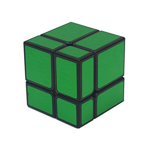 Magic Cube Puzzle, 2X2 Geschwindigkeit Spiegel Würfel Aufkleber Puzzle 1.9X1.9X1.9cm grün Farbe