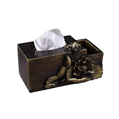 ZANZAN Caja de papel rollo para papel de seda para el hogar, decoración de mesa de café (color: A)