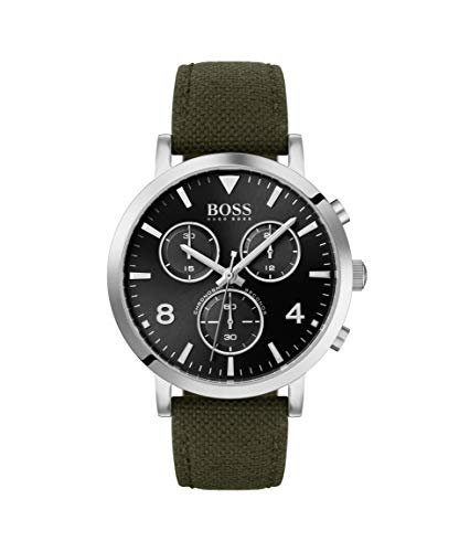Hugo Boss Herren Chronograph Quarz Uhr mit Nylon Armband 1513692