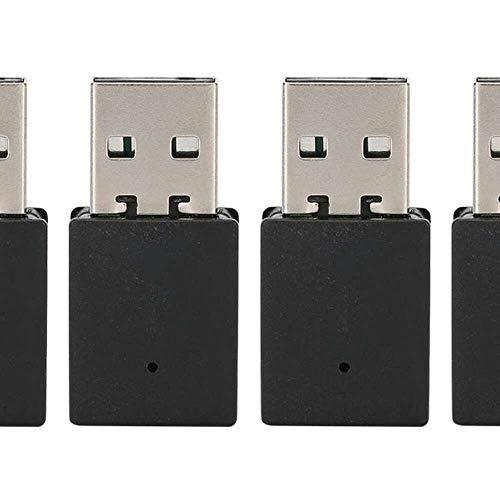 Yuyanshop 4 unids USB Bluetooth 5.0 adaptador de ordenador Bluetooth adaptador USB dongle con función de memoria automática antena para PC portátil negro