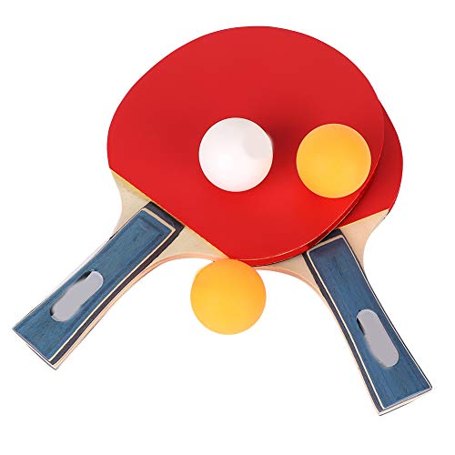 Best Buy! Ruiqas Table Tennis Bat,Racket Ping Pong Set 2 Rackets 3 Balls Indoor and Outdoor Sport fo...