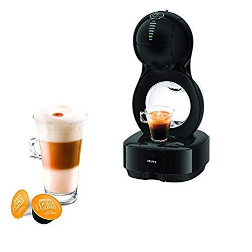 Krups YY3043FD Machine à Café Nescafé Dolce Gusto Lumio Capsules Cafetière Multi Boissons Chaudes Froides Expresso Lungo Thé Chocolat Lait 15 Bars Noir