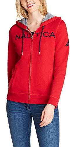 Nautica Ladies Full Zip Hoodie - Red Large