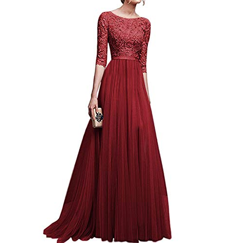 XuBa Women Delicate Chiffon Evening Dress Party Elegant Dresses Leisure Long Formal Dress