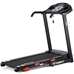 """ECHANFIT Folding Treadmill Electric Motorized Running Machine with 2.5 HP Power 15 Preset Programs 17Wide Tread Belt 8.5 MPH Max Speed for Home Use"""