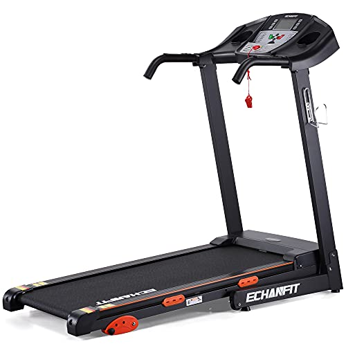 """""""ECHANFIT Folding Treadmill Electric Motorized Running Machine with 2.5 HP Power 15 Preset Programs 17Wide Tread Belt 8.5 MPH Max Speed for Home Use"""""""